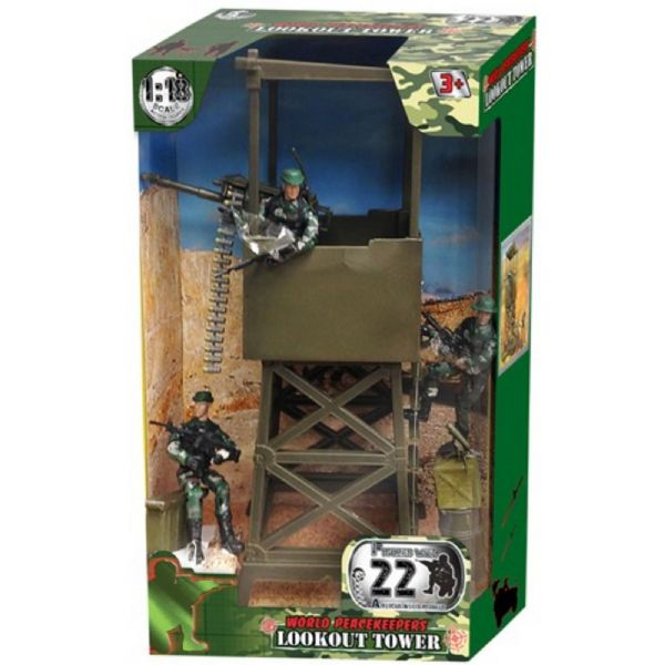 World PeaceKeepers Army Military Lookout Tower With Figures